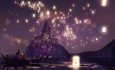 Rapunzel, Floating Lanterns - Anime Couples Artbooks | theAnimeGallery ...