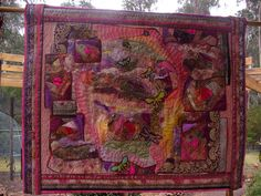 I ❤ embroidery & crazy quilting . . . Dreaming of Dragonflies- crazy patchwork, hand embroidered scrim, embellishment of mohair, organza, handyed silk, quilted border. ~by suziqu