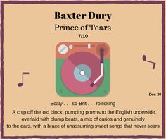 Baxter Dury, Rock Music, Poems, Old Things, Passion, Album, Big, Poetry, Verses