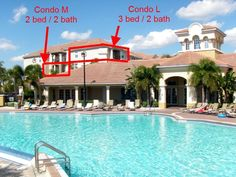 Orlando Condo Rental: 2 Bed / 2 Bath 3rd Floor Pool & Lakeview (condo M) | Disney / Universal / Seaworld? 4 Condos With Lake, Pool,fireworks View | HomeAway