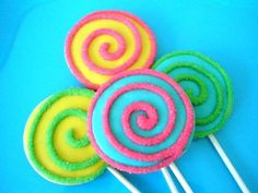 Shop for on Etsy, the place to express your creativity through the buying and selling of handmade and vintage goods. Lollipop Birthday, Rainbow Birthday, 2nd Birthday Parties, Girl Birthday, Fun Cookies, Candyland, Sweet Treats, Birthdays, Sweets
