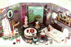Simple yet adorable fold out doll house for magical play.