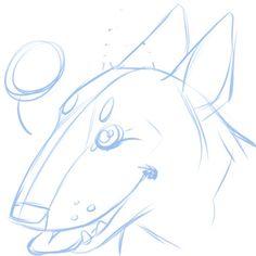 Bull Terrier Sketch! #art #sketch #dog #bullterrier #drawing #digitalart
