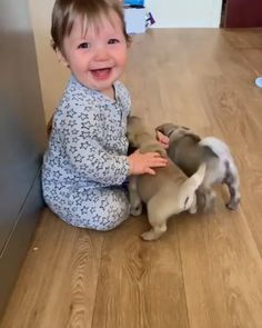 I love baby's and puppy's, what could be better!