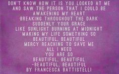 Beautiful, Beautiful by Francesca Battistelli