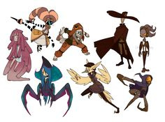 Character Designs by UnknownSpy.deviantart.com on @DeviantArt