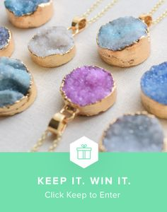 Enter for a chance to win the Druzy Necklace from Olive Yew and @keep!