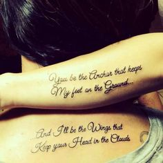 bible mother daughter tattoos