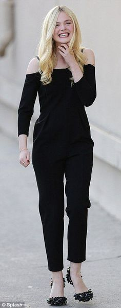cb298660d0 Effortlessly elegant  The teenager later slipped into a chic black jumpsuit  to make an appearance