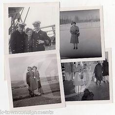 WAC MILITARY WOMEN & NAVY MEN IN UNIFORM VINTAGE WWII SNAPSHOT PHOTOS