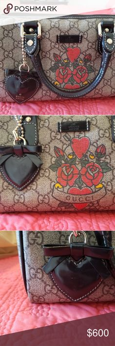 2bc08e9eddc Authentic small Boston Gucci Tattoo bag Authentic small Boston Gucci  excellent condition