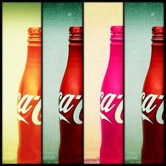 this is the aluminum coke bottle we will use with our design. Its practical, colorful, and easy to reuse.