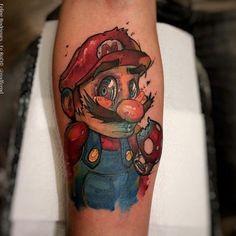 Super Mario Tattoo by Felipe Rodrigues
