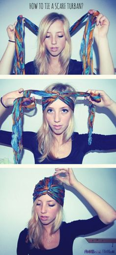 ::: OutsaPop Trashion ::: DIY fashion by Outi Pyy :::: STYLING how to tie a scarf turban?