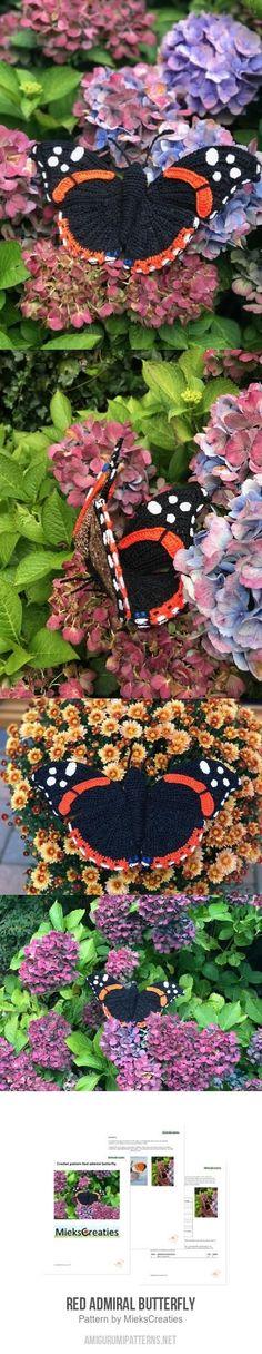 Red Admiral Butterfly Amigurumi Pattern