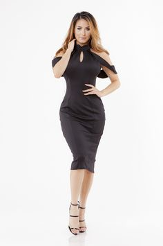 Alfea Midi Dress - Black