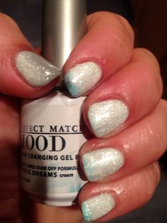 Lechat mood polish warm with stamping. Angelic dreams.