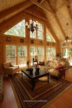 Galleries: Photos of Completed Log Homes interior of a Southland Log Home in Charlotte, NC  http://www.wersdecor.website/2017/05/04/galleries-photos-of-completed-log-homes/
