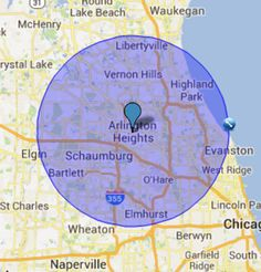 Service Area Map #Roofing_Arlington_Heights #Roof_Repair_Arlington_Heights #Roofing_companies_Arlington_Heights