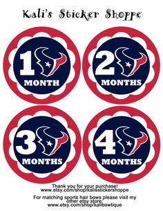 Houston Texans Baby Monthly Bodysuit by KalisStickerShoppe on Etsy, $10.00