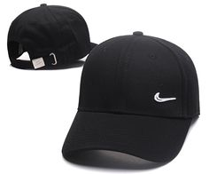 Men's / Women's Nike Small Swoosh Iconic Logo Curved Dad Hat - Black / White Mens Dad Hats, Hats For Men, Animal Print Outfits, Nike Store, Hats For Sale, White T, Nike Outfits, Mens Caps, Nike Sb