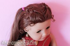Double Top Braids American Girl Doll Hairstyle! - http://www.americangirlfan.com/2012/10/double-top-braids-american-girl-doll-hairstyle.html