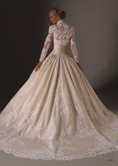 beautiful wedding / bridal gown / dress