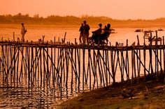 Crossing the Mekong in Cambodia...