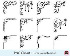 Decorative Lines, Decorative Borders, Page Borders Design, Border Design, Frame Clipart, Clip Art, Scroll Pattern, Art Sites, Borders And Frames