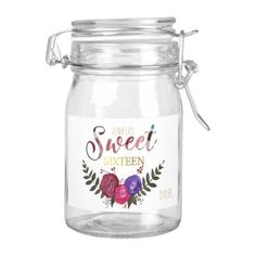 #floral - #Watercolor and Gold Sweet Sixteen Food Label