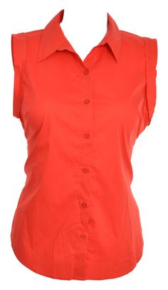 Ann Taylor  Womens Collar Blouse 18 Button Front Sleeveless Belted Wrap Red NEW