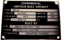 Laser engraved Aircraft ID tag.  The versatility of a laser engraver is amazing