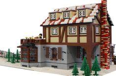 Lego Winter Village, Lego Village, Lego Christmas Sets, Lego Building, Building Ideas, Amazing Lego Creations, Lego Modular, Lego Architecture, Lego Projects