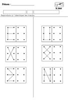 Reproduire un tracé dans une grille Preschool Learning Activities, Home Learning, Preschool Worksheets, Kindergarten Math, Visual Perception Activities, Montessori Math, Pre Writing, Math For Kids, Kids Education