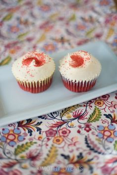 Hummingbird Bakery Red Velvet.. Love the name ...