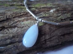 Blue lace agate & Sterling silver teardrop necklace by Handmade Jewellery, Unique Jewelry, Handmade Gifts, Blue Lace Agate, Teardrop Necklace, Sterling Silver Jewelry, Dawn, Pendant Necklace, Drop Earrings