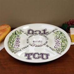 Texas Christian Horned Frogs (TCU) Ceramic Veggie Tray $39.95