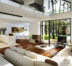 Tips and luxury features of modern home interior and exterior design Dream Home Design, Modern House Design, Home Interior Design, Modern House Interior Design, Interior Ideas, Glass House Design, Future House, Design Exterior, Rustic Exterior