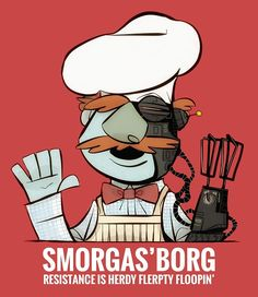 Muppets Swedish Chef x Star Trek's the Borg Chris Evans, Aliens, Cyberpunk, Funny Memes, Hilarious, Funny Quotes, Fraggle Rock, The Muppet Show, Star Wars