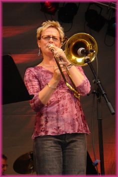 One of the UK's preeminent jazz trombone players, Annie Whitehead