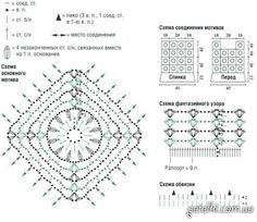 scheme of a square flower motive