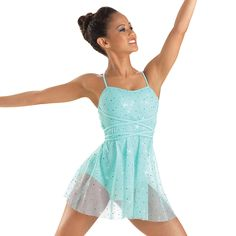 Beautiful leotard. Sparkly icy blue