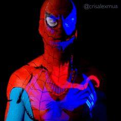 Spiderman UV Venom Body Paint