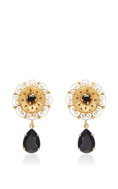 Dark Crystal Earrings by DOLCE & GABBANA Now Available on Moda Operandi