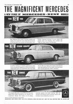 Mercedes Benz 220SE Car Motor Autocar Advert 1961 ;-$