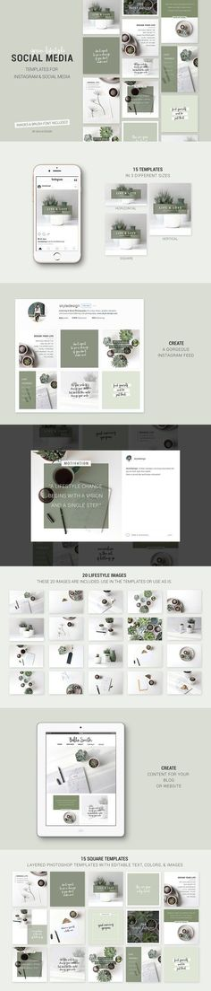 Social Media templates + Images  by Skyla Design on @creativemarket Social media creative design posts for promotion marketing design templates. Use it for quotes, tips, photos, etiquette, ideas, posts or for presentation your business agency, products sales or designs. Ready to use on Instagram, Pinterest, Facebook, Twitter your Blog or Website. #socialmedia #socialmediamarketing #instagram #design #stories #post #pinterest #feminine #story