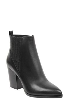 3ec1b1c681d5 Women's Steve Madden 'Pistol' Bootie (115 CAD) ❤ liked on Polyvore  featuring shoes, boots, ankle booties, black leather, steve madden bo… |  ankle boots in ...