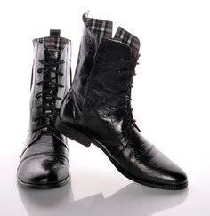Myster  high ankle boots classic in modern style by MagyaFashion
