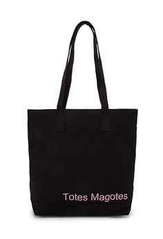 Conversation-Starting Canvas Tote | FOREVER21 - 1000090757 [HAVE IT IN RED, LOVE IT]