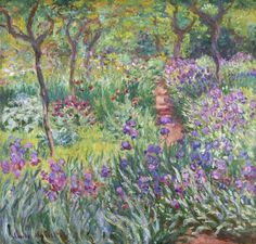 The Iris Garden at Giverny - Claude Monet; my favorite Monet painting.